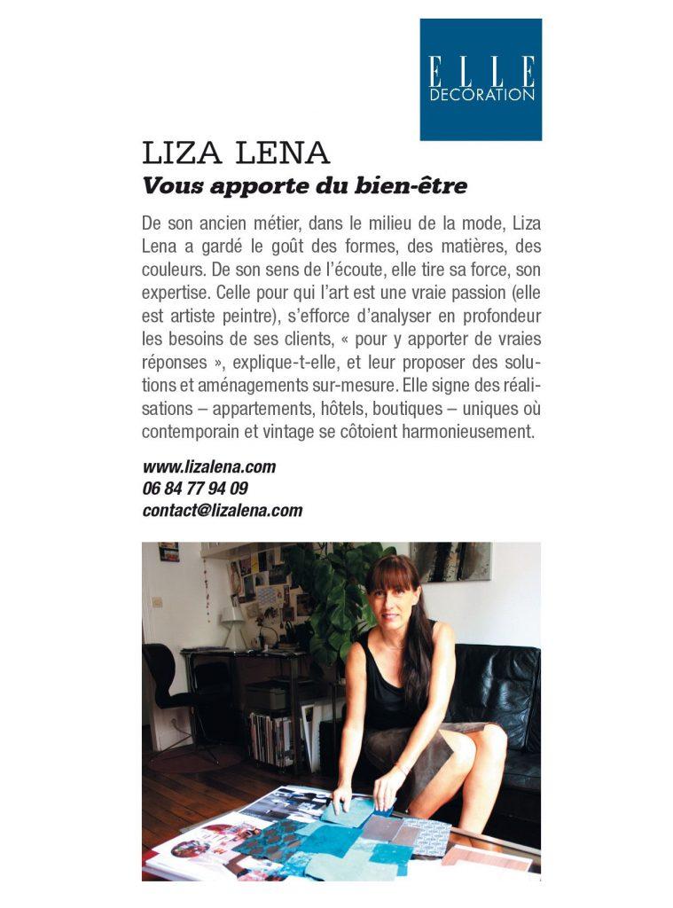 article Liza Lena dans Elle Déco