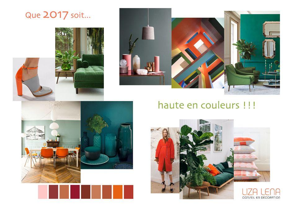 planche d'ambiance déco couleurs tonniques par Liza Lena
