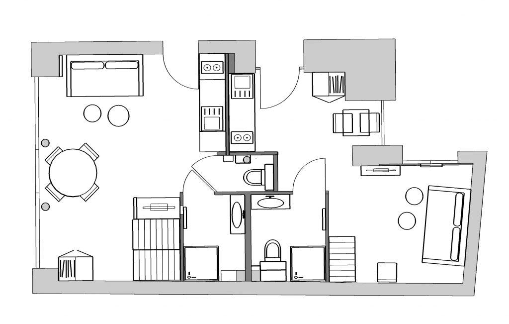 vue d'un plan d'aménagement d'un local commercial par Liza Lena