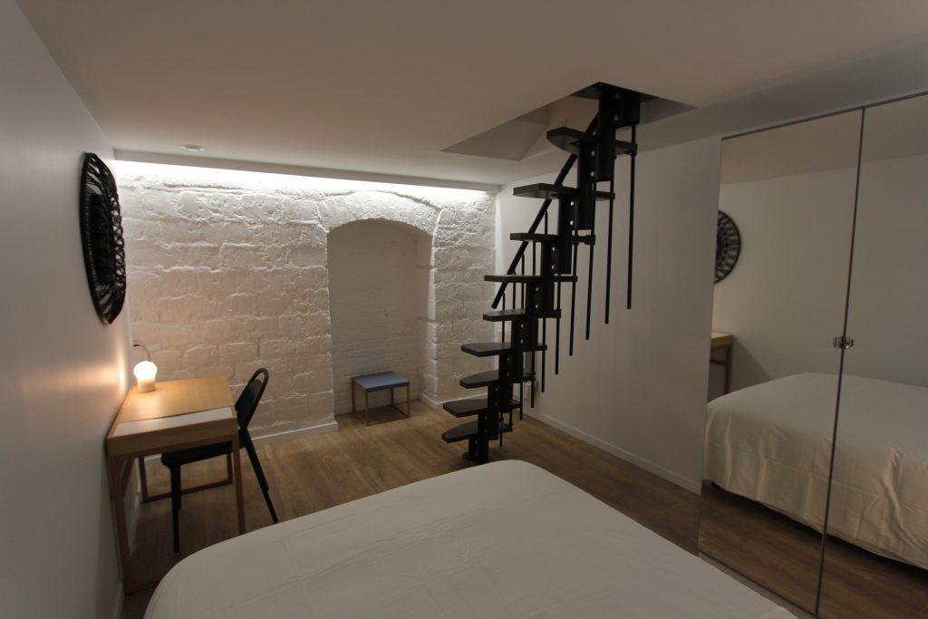 la chambre d'un souplex réaménagé