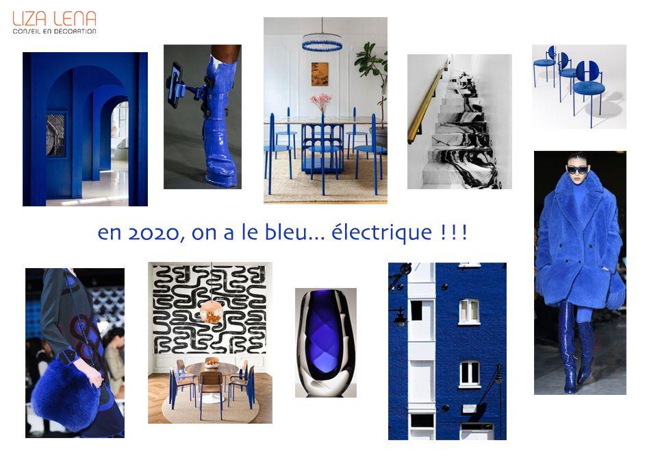 planche d'ambiance déco bleue électrique de Liza Lena