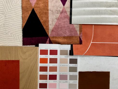 sélection de papiers peints et tissus couleurs terracotta de Liza Lena