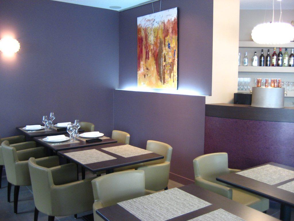 Photo d'une décoration de restaurant conçue par Liza Lena