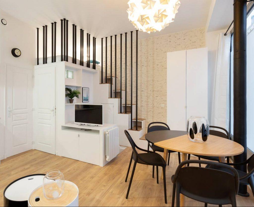 appartement souplex avec mezzanine et création d'un escalier par Liza Lena