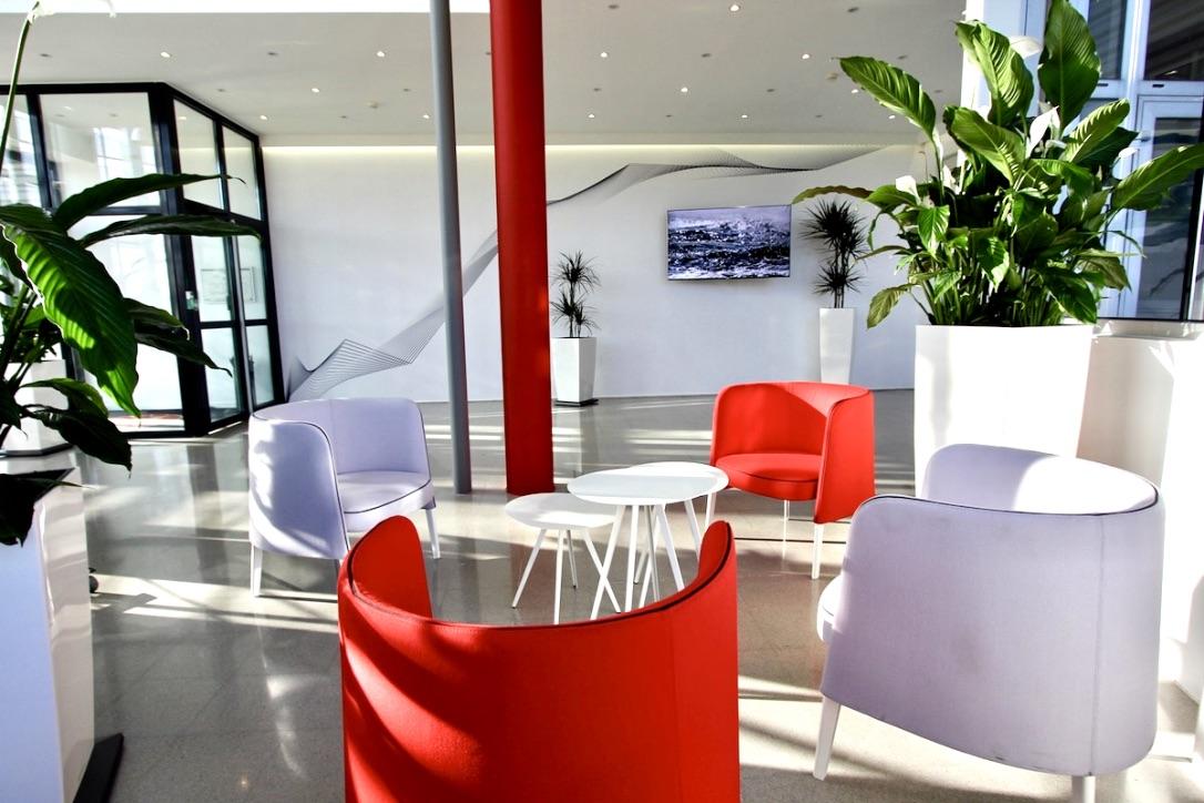 Photo d'un hall d'accueil relooké par Liza Lena